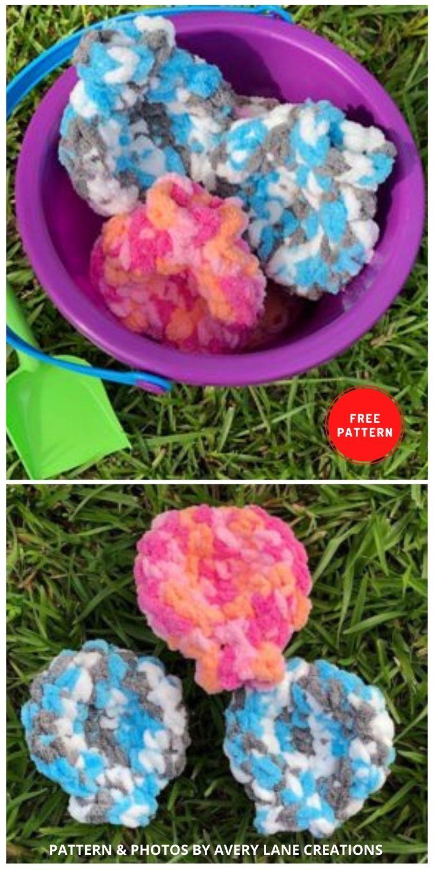 Balões de água de crochê - 11 padrões de crochê de balões de água divertidos e reutilizáveis gratuitos