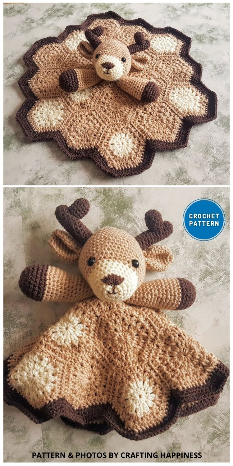 Freddy The Fawn Baby Lovey - 10 Crochet Animal Lovey Blanket Patterns Baby Shower Gifts