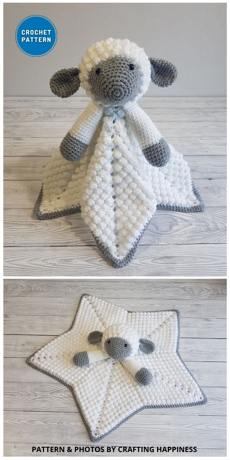 Liam The Lamb Baby Lovey - 10 Crochet Animal Lovey Blanket Patterns Baby Shower Gifts
