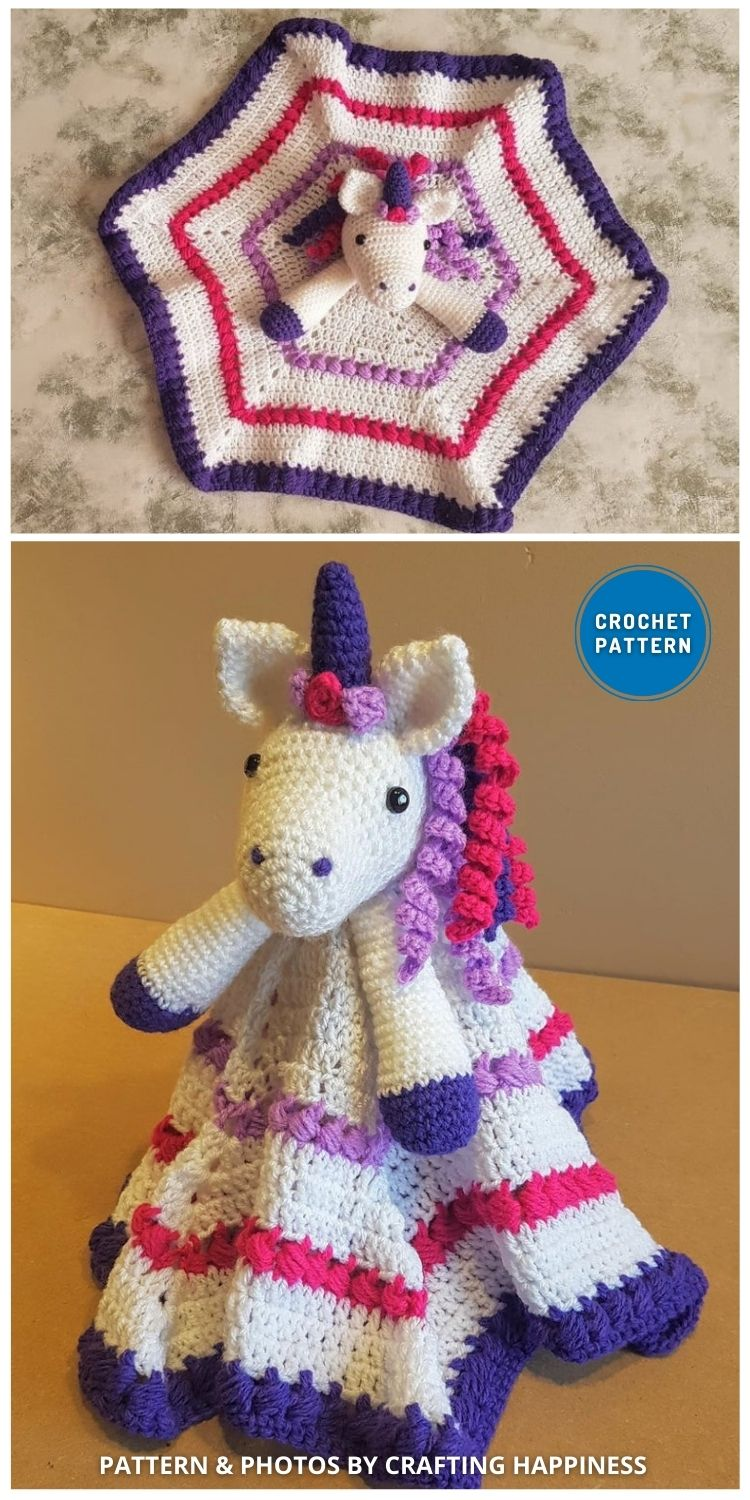 Maria The Unicorn Baby Lovey - 10 Crochet Animal Lovey Blanket Patterns Baby Shower Gifts