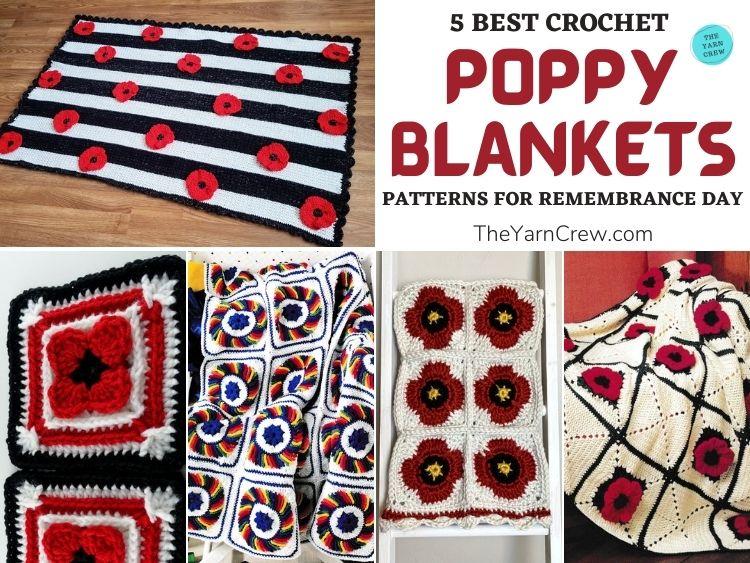 5 Best Crochet Poppy Blanket Patterns For Remembrance Day FB POSTER