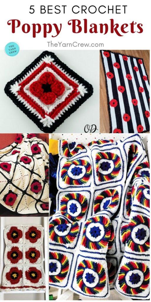5 melhores cobertores de papoula de crochê PIN 2