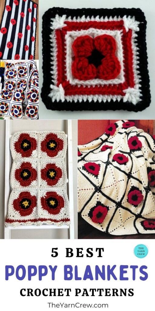 5 melhores padrões de crochê de manta de papoula PIN 3