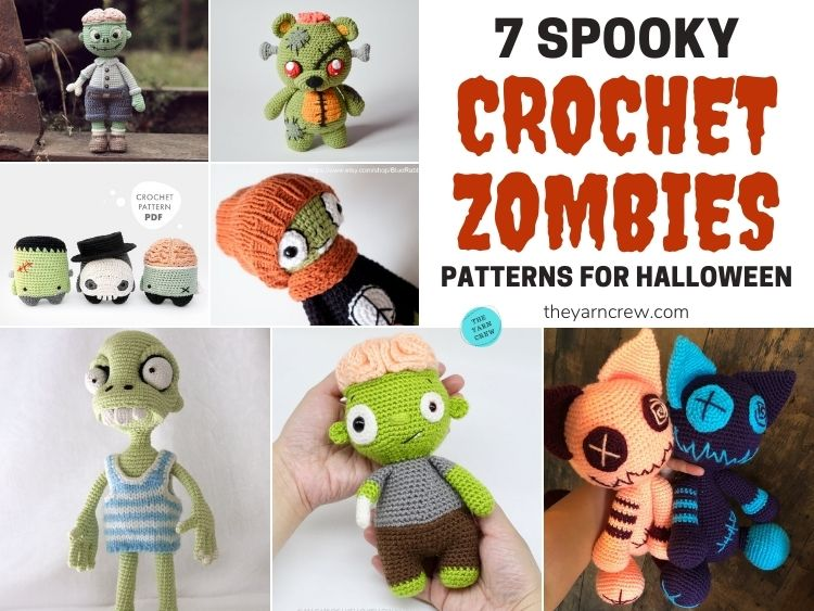 7 Spooky Crochet Zombie Patterns For Halloween FB POSTER