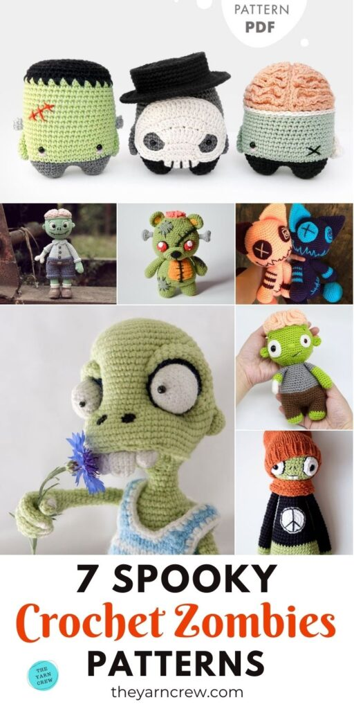 7 Spooky Crochet Zombie Patterns PIN 3