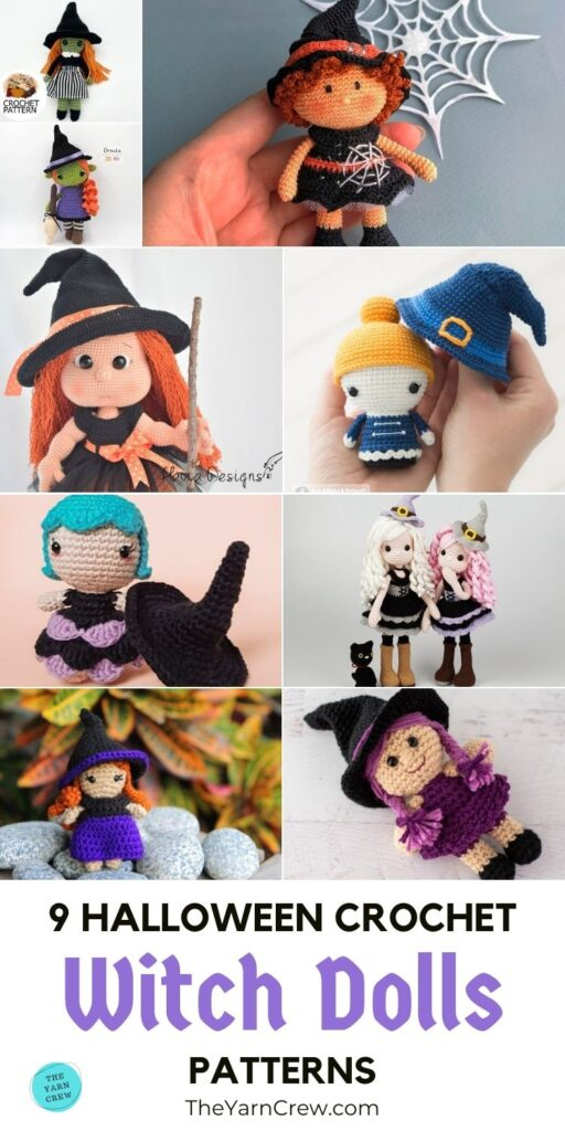 9 Halloween Crochet Witch Doll Patterns PIN 3
