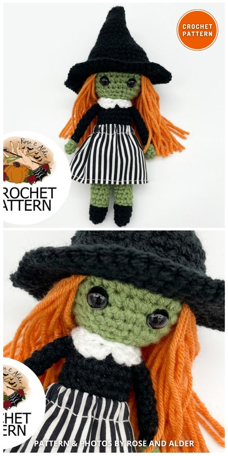 Basic Witch - 9 Halloween Witch Doll Crochet Patterns