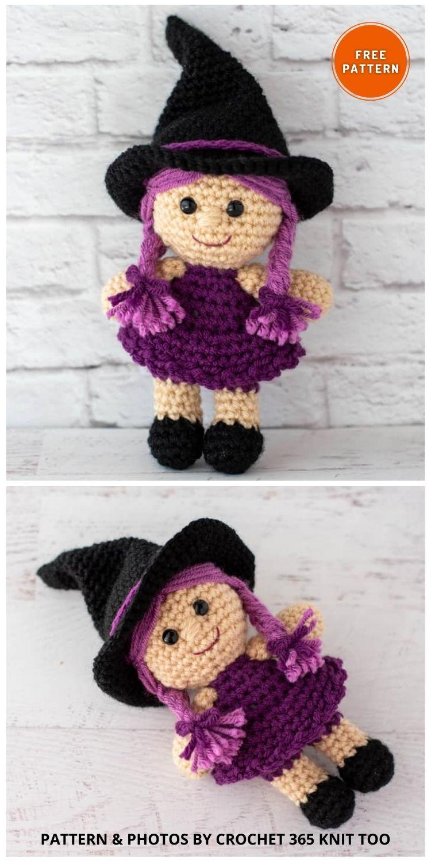 Crochet Witch - 9 Halloween Witch Doll Crochet Patterns