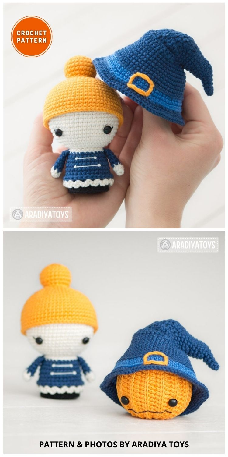 Mrs. Witch - 9 Halloween Witch Doll Crochet Patterns