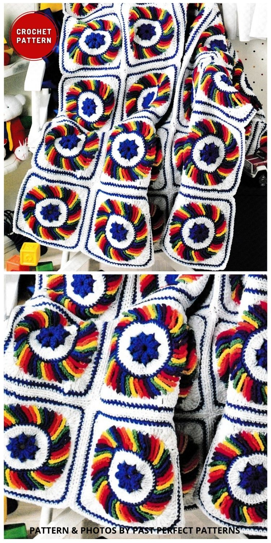 Poppy Afghan Throw Blanket - 5 melhores padrões de crochê poppy manta para o dia da lembrança (1)