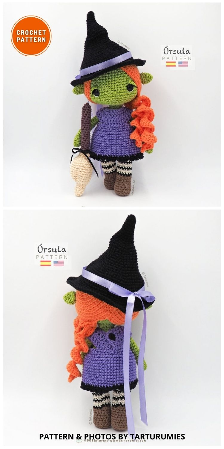 Úrsula The Witch - 9 Halloween Witch Doll Crochet Patterns