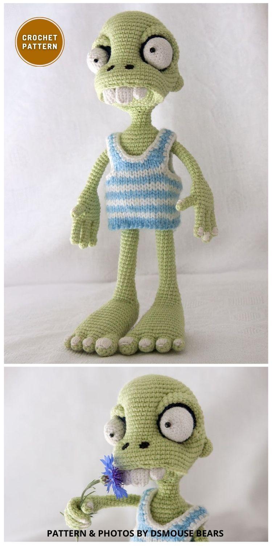 Zombie Boy Crochet Pattern - 7 Spooky Crochet Zombie Patterns For Halloween