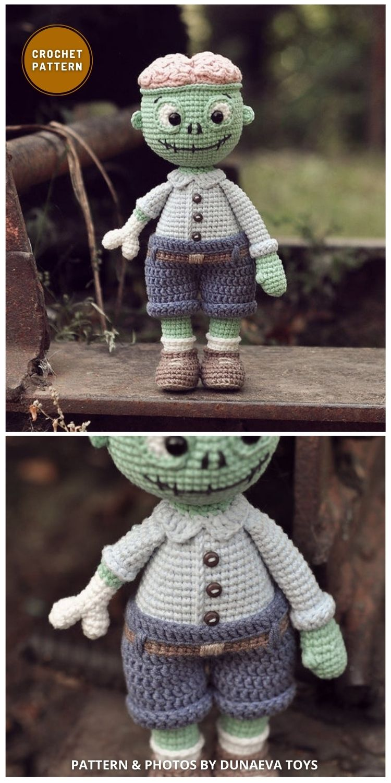 Zombie Crochet Pattern - 7 Spooky Crochet Zombie Patterns For Halloween